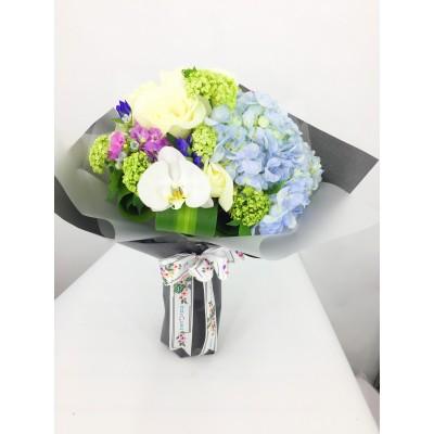 繡球玫瑰花束