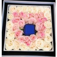 玫瑰鑽戒盒