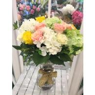 仿真玫瑰繡球枱花