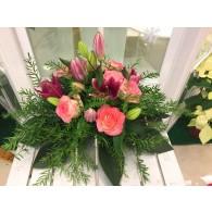 香水百合玫瑰枱花