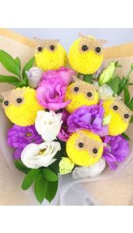 貓頭鷹花束