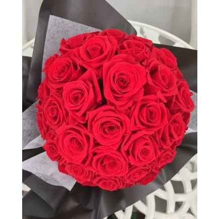 永恆紅色花球 M