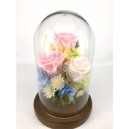 小王子玻璃玫瑰 L